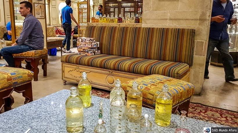 Fábrica de perfume - Diário de Bordo: 2 dias no Cairo