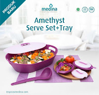 Dusdusan Amethyst Serve Set + Tray ANDHIMIND