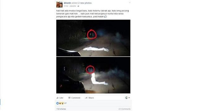 Tukang Begal yang Menyamar Jadi Pocong Telah Ditangkap, Begini Reaksi Netizen