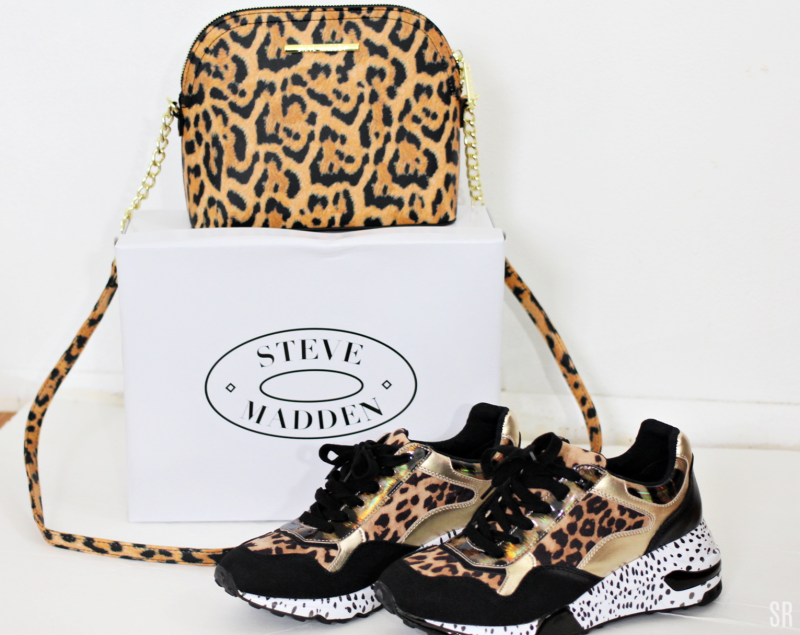 Steve Madden Leopard Sneakers and Purse