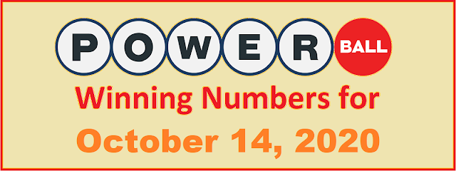 PowerBall Winning Numbers for Wednesday, October 14, 2020