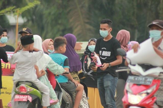 Terus Bergerak, GEMA Al Haris Tanjung Jabung Barat Bagi-bagi Masker