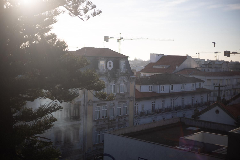 Telhados da Rua Fernandes Tomás no Porto