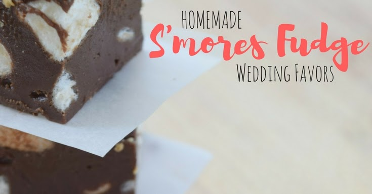 homemade smores fudge wedding favor a bride on a budget