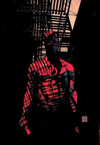 Daredevil dibujado por Alex Maleev