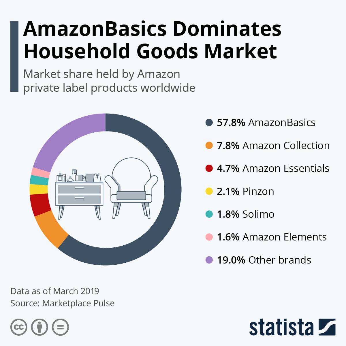 AmazonBasics Dominate Household Goods Market #infographic