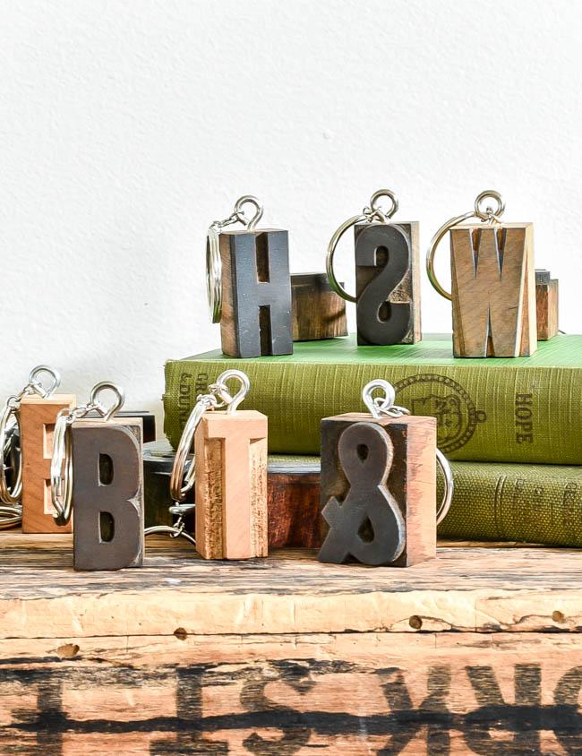 How to make vintage letterpress keychains