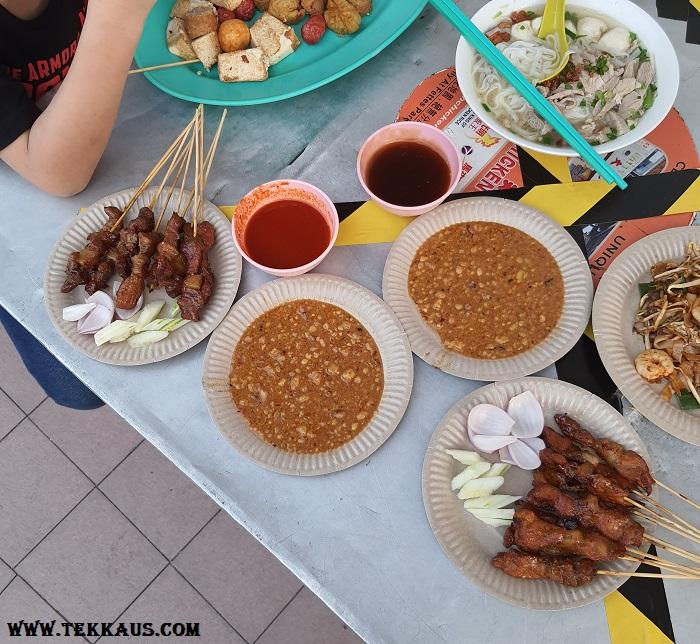Chulia Street Night Hawker Stalls Satay