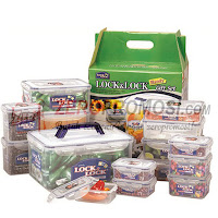 Lock & Lock HPT884A Plastic Container 15P Set