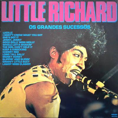 Capa de coletânea de Little Richard lançada no Brasil pela Som Livre no começo da década de 1990.