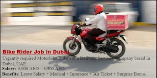Bike Rider For Food Delivery Jobs Recruitment in Dubai, Abu Dhabi, Sharjah   Free Visa and Bike Provided by the company