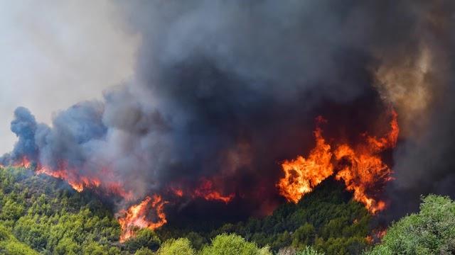 Μεσσηνία: Ξέσπασε πυρκαγιά στην Κάτω Μέλπεια