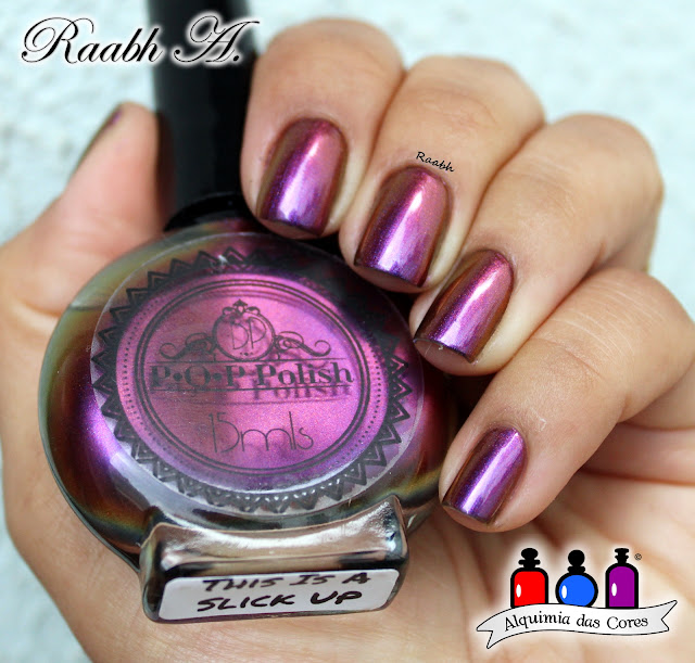 Esmalte Multichrome, P.O.P. Polish, P.O.P Polish This Is A Slick Up, Unhas Carimbadas, Glitter, Nail Art, Raabh A. 2019