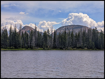 Notch Mountain Uintas in the Background of Crystal Lake
