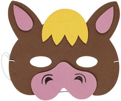 máscara de burro en EVA