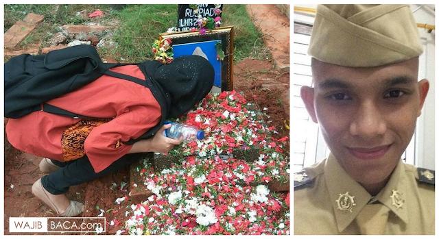Kekasih Amirulloh Datangi Makam, Buat Netizen Menitihkan Air Mata