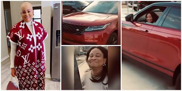 Yoruba Actress, Bukky Wright turns 54 years old today as she receives a Range rover from her son (Video)