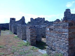 ポンペイ遺跡中の風景