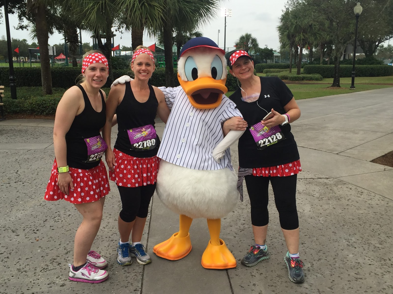 Dopey Challenge Mickey Marathon 2016 with Baseball Donald at ESPN World