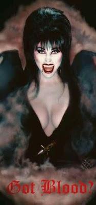 Elvira asks Got Blood?