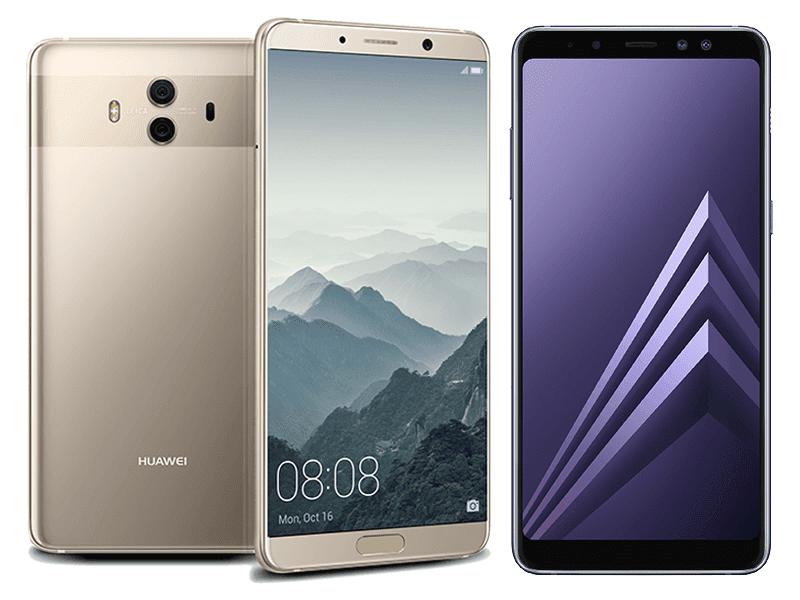Huawei Mate 10 vs Samsung Galaxy A8+ (2018) Specs Comparison