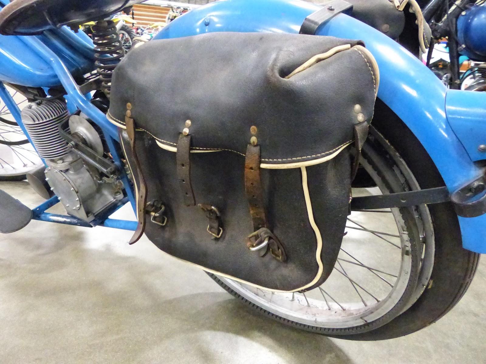 1970 Harley Davidson Evel Knievel Tribute: OldMotoDude: 1955 Simplex 130cc Servi-Cycle On Display At