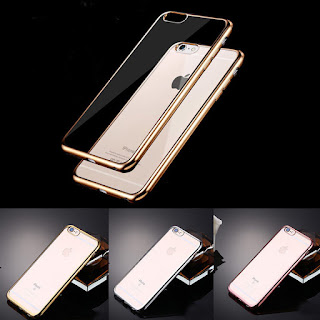 New Fashion Protective Plated TPU Clear Back Case Cover Skin For Smart Phones
