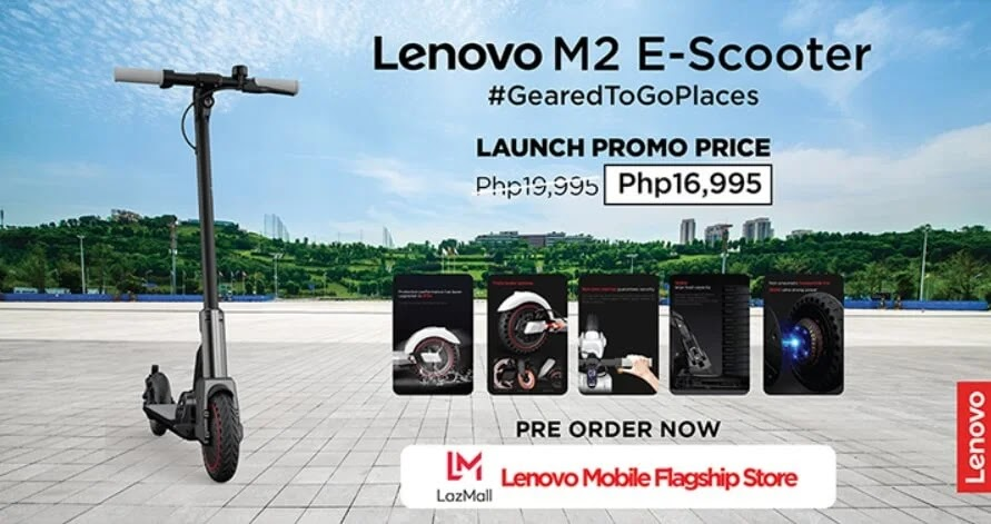 Lenovo's latest M2 Electric Scooter is ready to take you places; Yours for Only Php16,995