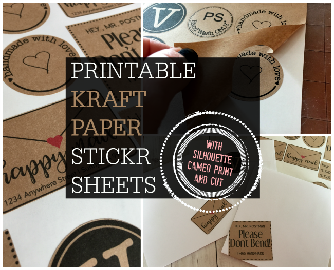 printable kraft paper sticker sheets, printable kraft paper