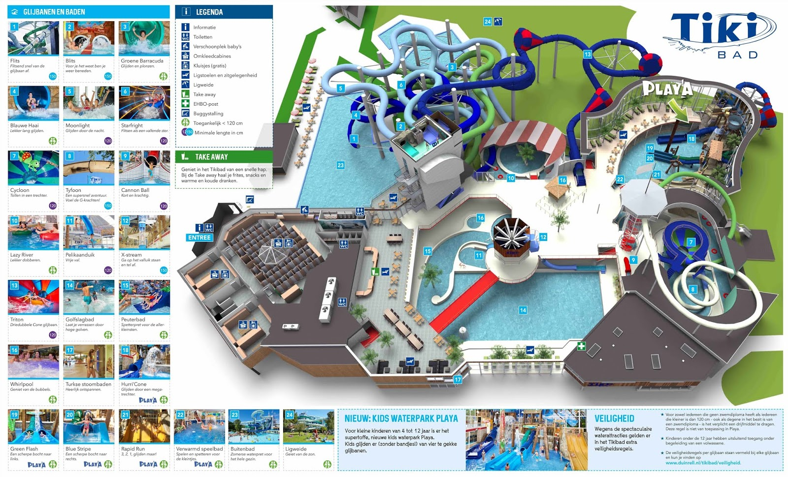 Tiki Bad Waterpark Map - Credit : Duinrell