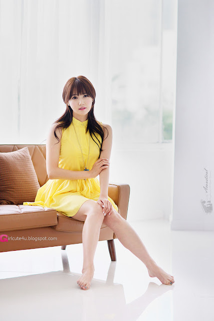 2 Han Ga Eun in Yellow- very cute asian girl - girlcute4u.blogspot.com