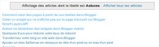 Blogger : Afficher uniquement les titres sur les pages libellés et archives