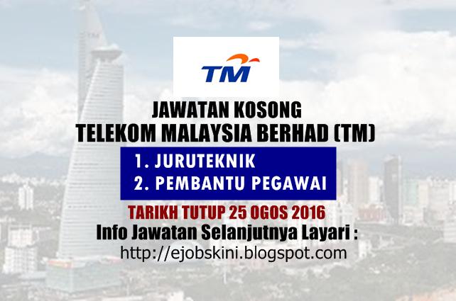 jawatan kosong telekom malaysia berhad ogos 2016