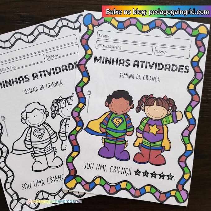Capa para atividade remotas: minhas atividades semana da criança