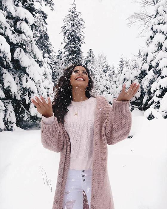 foto tumblr con nieve