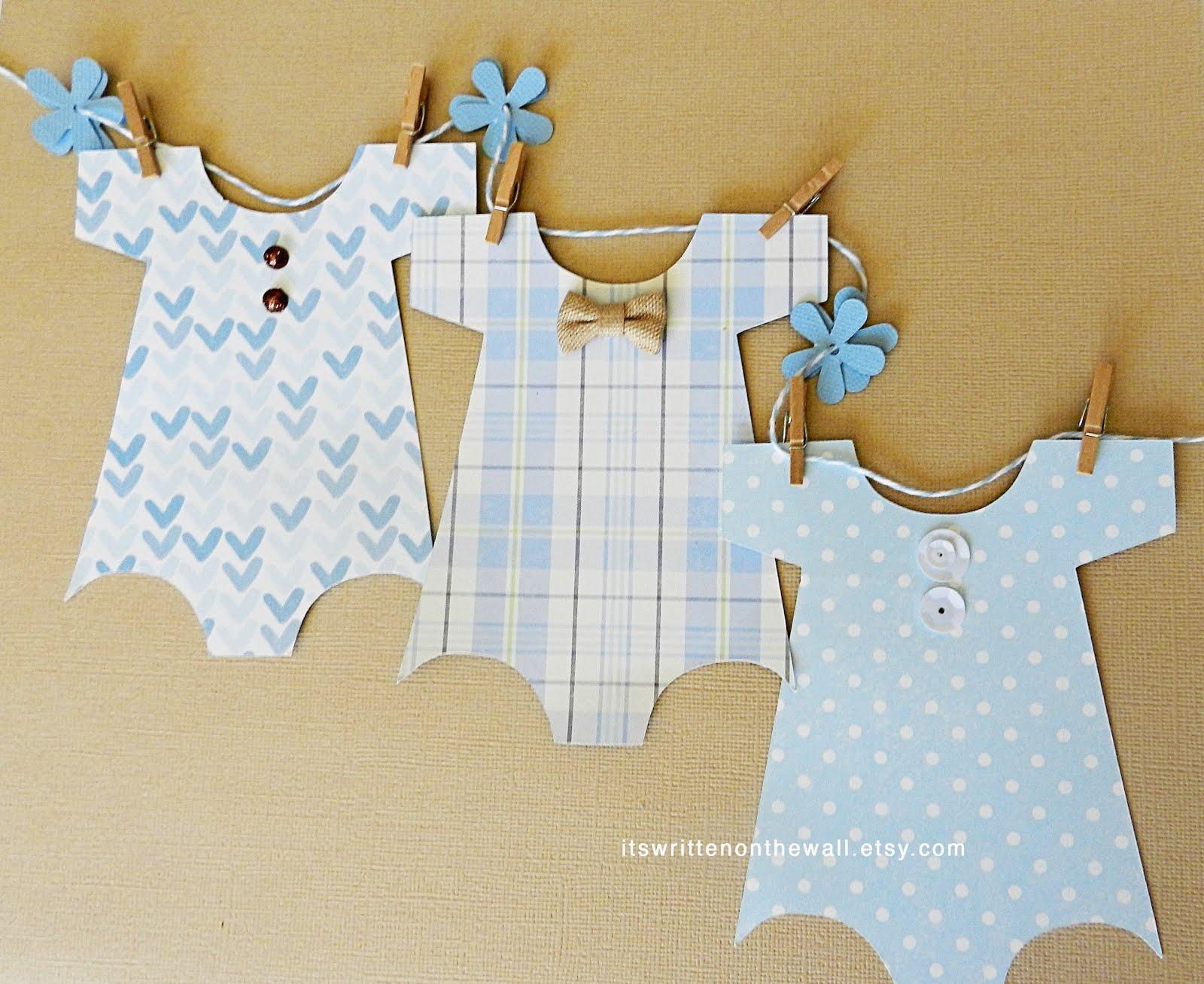 For Baby Shower or Babies Nursery-Baby Boy Garland / Banner