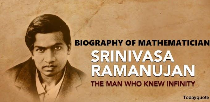 Indian Mathematician Srinivasa Ramanujan Biography