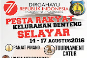 IKUTI PESTA RAKYAT KELURAHAN BENTENG 14 s/d 17 AGUSTUS 2016