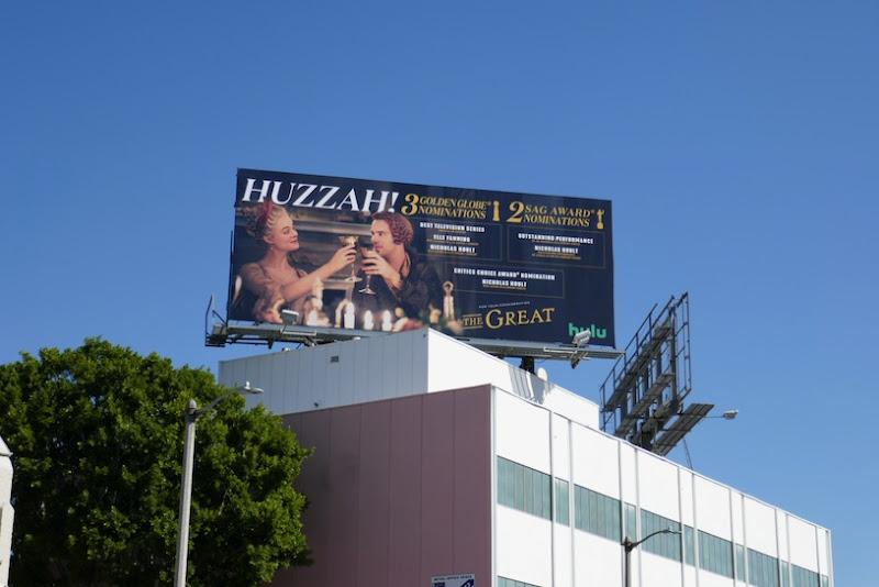 Great nominee Huzzah billboard