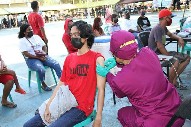 Serbuan Vaksinisasi TNI-POLRI Bersama Pemkot Jayapura Capai 2.752 Orang
