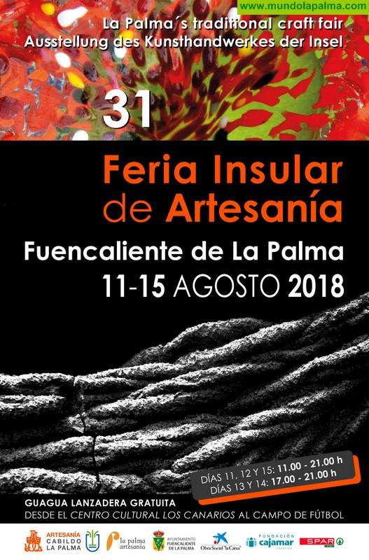 La XXXI Feria Insular de Artesanía reunirá en Fuencaliente los mejores trabajos de más de 130 artesanos de la isla