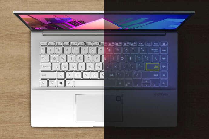 backklit keybooard asus VivoBook S14 S433