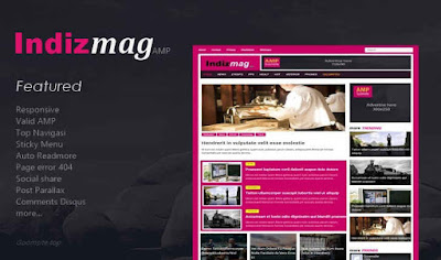Indizmag Valid AMP Responsive Blogger Template