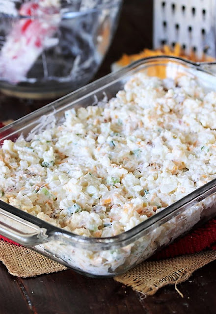 Filling Mixture for Cauliflower {Just Like} Loaded Baked Potato Casserole Image