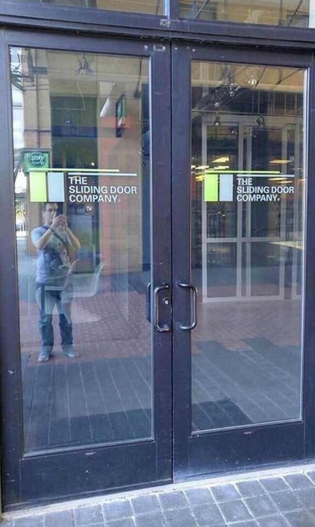 27 Pictures Show That The World Has A Plan For All Of Us - The entrance to 'The Sliding Door Company.'