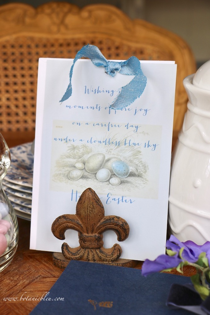 Handmade Easter Card is a versatile and can be used with any style, not just French Country
