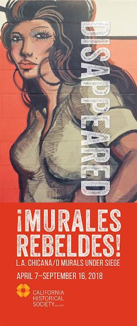 """¡Murales Rebeldes! L.A. Chicano/a Murals under Siege"" - poster"