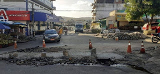 Guarabira: prefeitura retoma obras de manutenção de calçamento após período chuvoso.