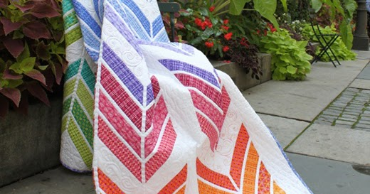 Free Quilting: Jelly Roll Zig Zag Quilt
