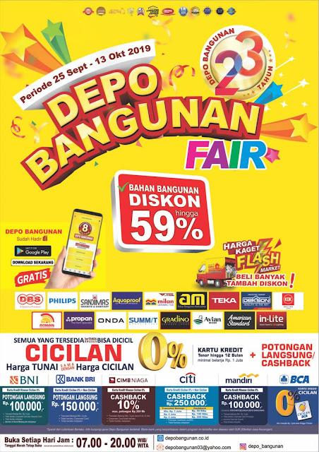 #DepoBangunan - #Promo Katalog Depo Bangunan Fair Ke V 2019 (s.d 13 Okt 2019)
